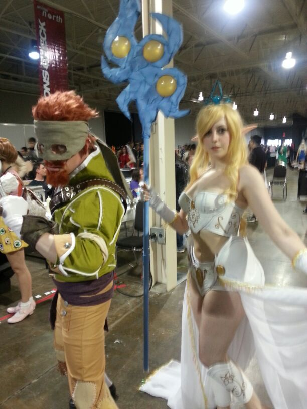 For 1000 riot points, name the two cosplayers here.
