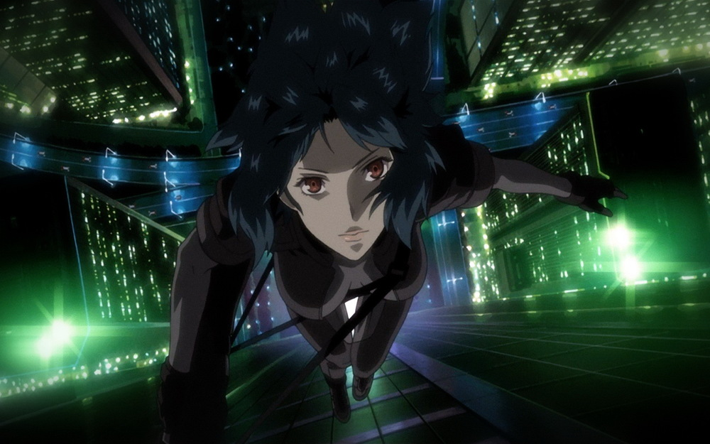 Bright lights echoing Tokyo's landscape in Ghost In The Shell