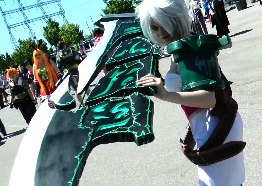 League of Legends was huge this year at Anime North. Apparently over 300 people cosplayed a character from the video game this year. Here's Riven.