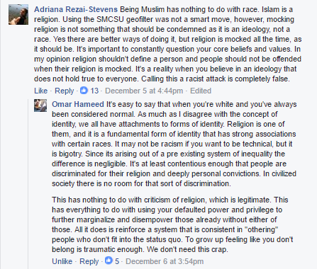 """Religion is mocked all the time, as it should be."""
