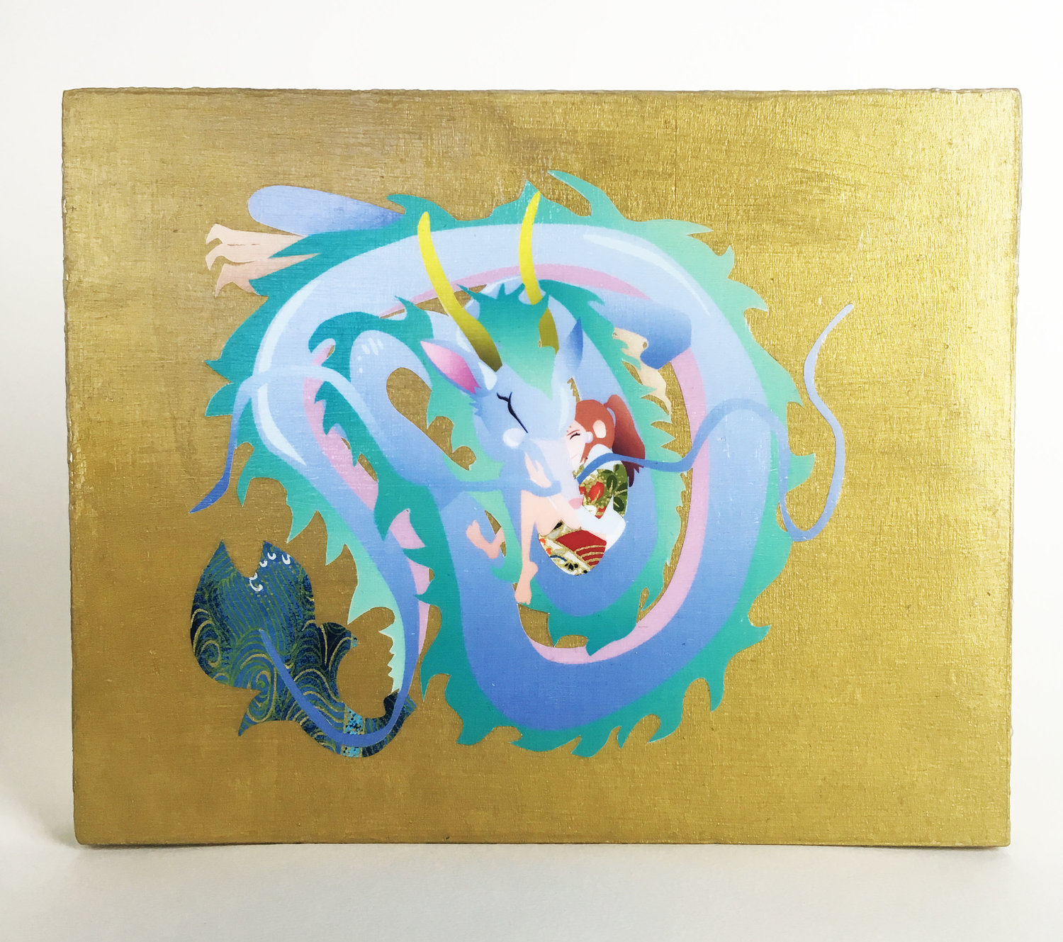 Studio Ghibli Spirited Away Haku Dragon Cuddle Chihiro Wall Hanging ...
