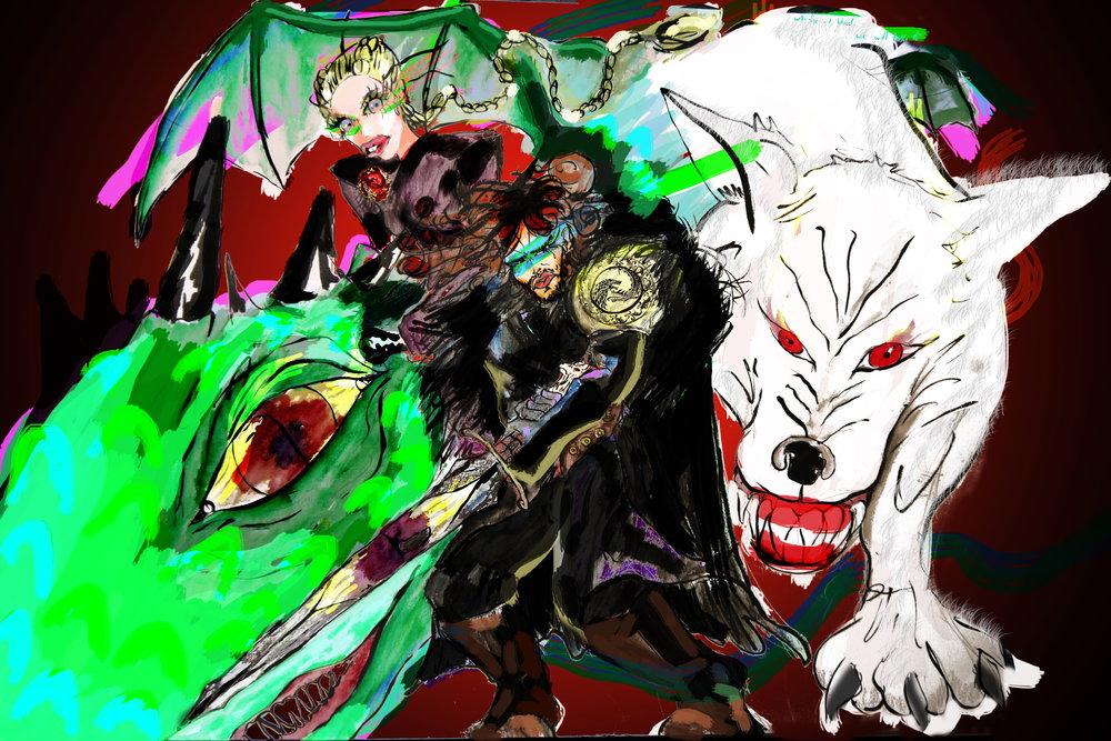 jon snow and khaleesi game of thrones colouring book2