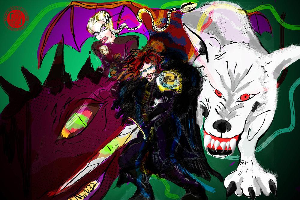 jon snow and khaleesi game of thrones colouring book3