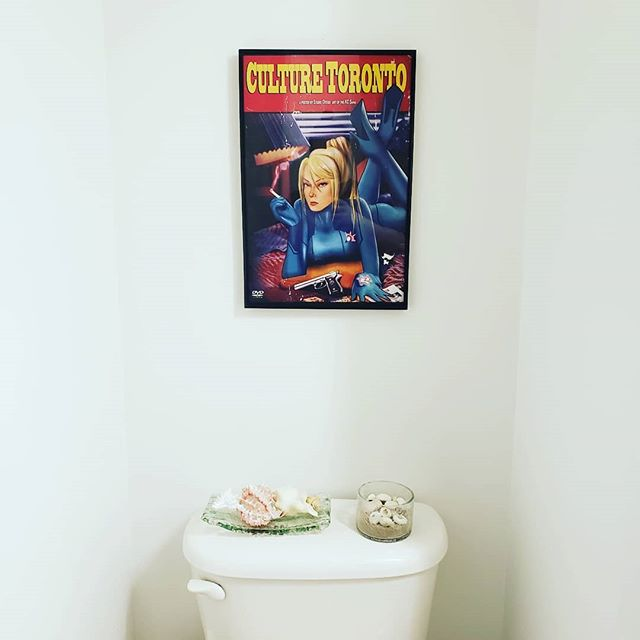 Art can make even the worst rooms beautiful. The latest in our KC series features Zero Suit Samus Aran in the same pose Uma Thurman took for Pulp Fiction's iconic DVD art. Where would you hang yours? . . . . . #smashbros #zerosuitsamus #nintendo #metroid #pulpfiction #poster #posterdesign #posters #videogames #anime #bathroom #bathroomdecor