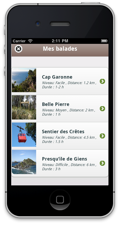 Application randonnée nature