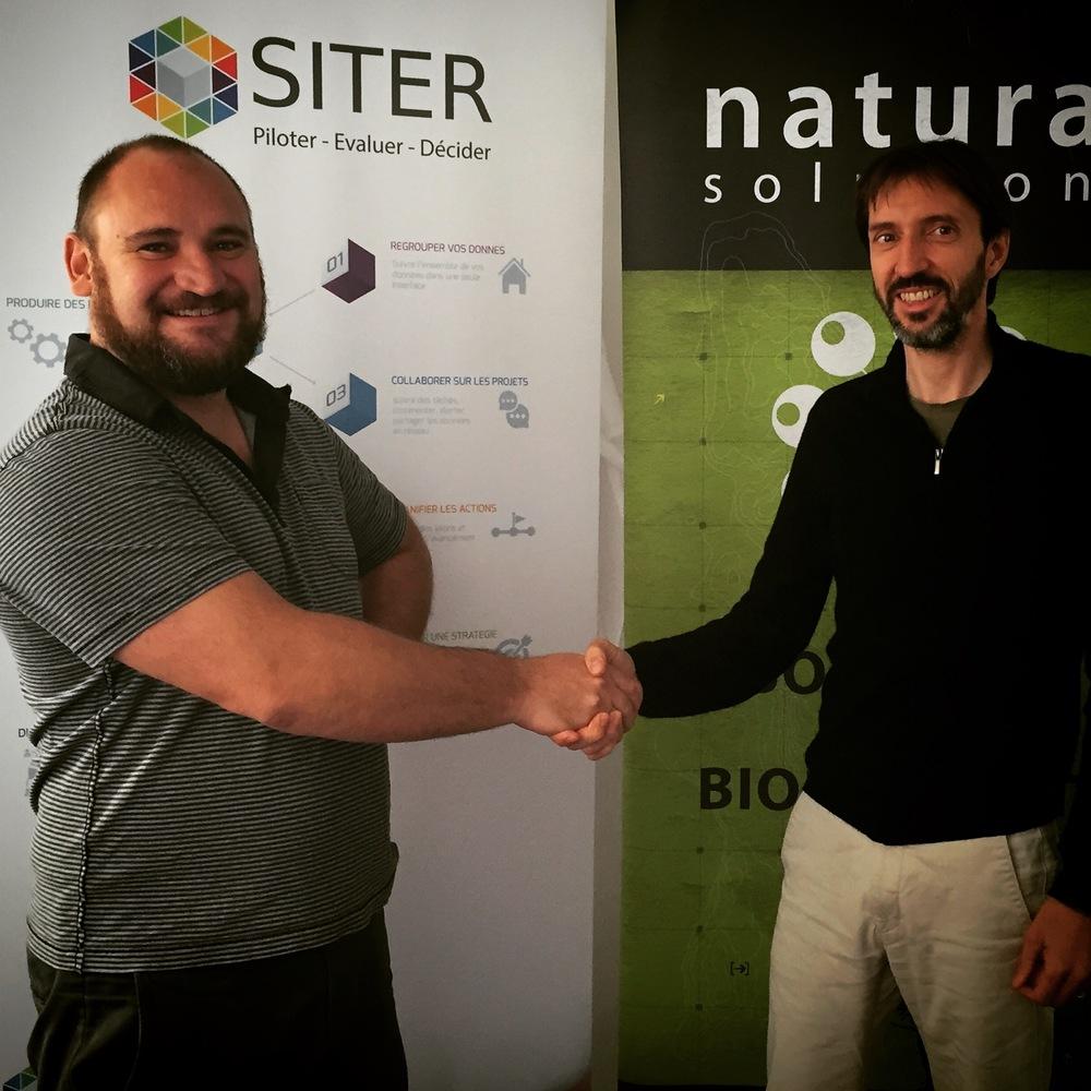 De gauche à droite : Olivier Rovellotti (Natural Solutions) et Jérémy Massin (Siter)
