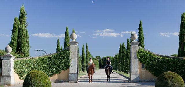 The majestic entrance at Il Borro, Tuscany