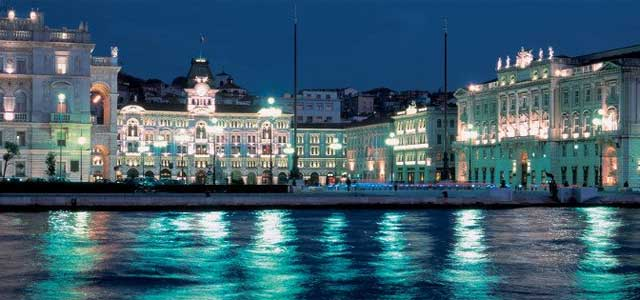 The beautiful Piazza Unità in Trieste - image from turismofvg.it