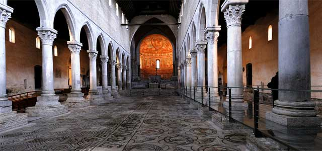 The amazing mosaic in Aquileia's Basilica - image from nikonclubitalia.com