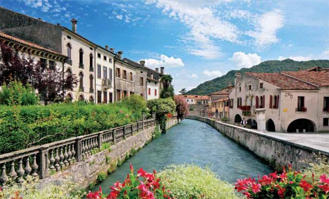 """Meschio River in Serravalle, Conegliano - image from """"Visit Conegliano Valdobbiadene"""" booklet"""