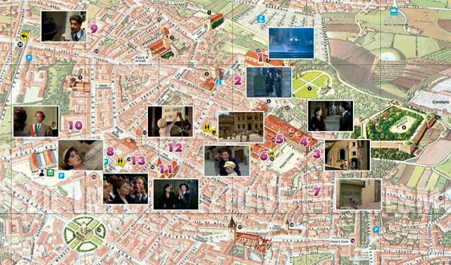 """Movie locations of """"La Vita è Bella"""" (1997) in Arezzo. From visitarezzo.com"""