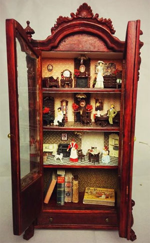 Antique doll house at Balocco Arte. Image from Balocco Arte on Facebook