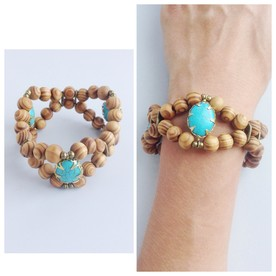 Want to double up the turquoise look? wear this bracelet with a fab turquoise necklace.