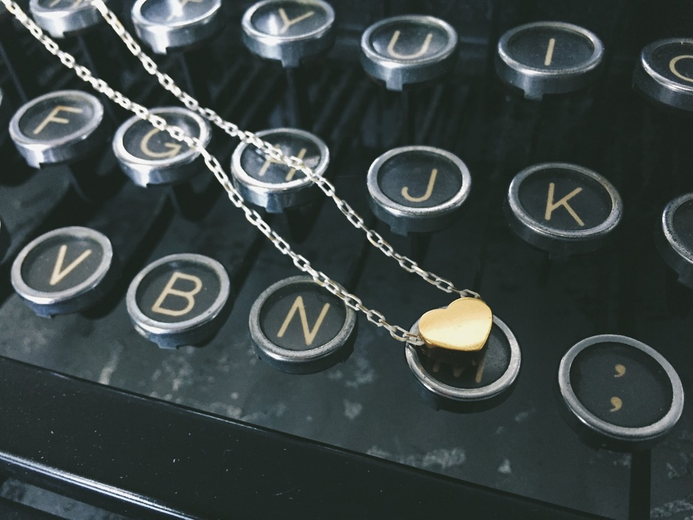 Our cute tiny heart necklace!