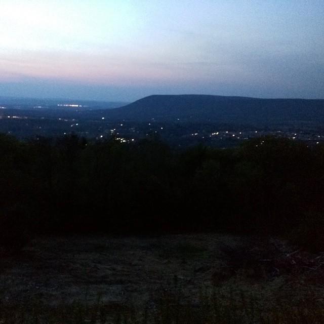 Sunset over Nittany Mountain!  #nittanymountaindistillery #pennstateuniversity #pennstate #pennsylvania