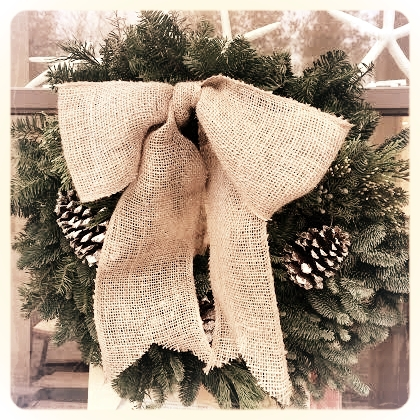 Evergreen w/ Burlap
