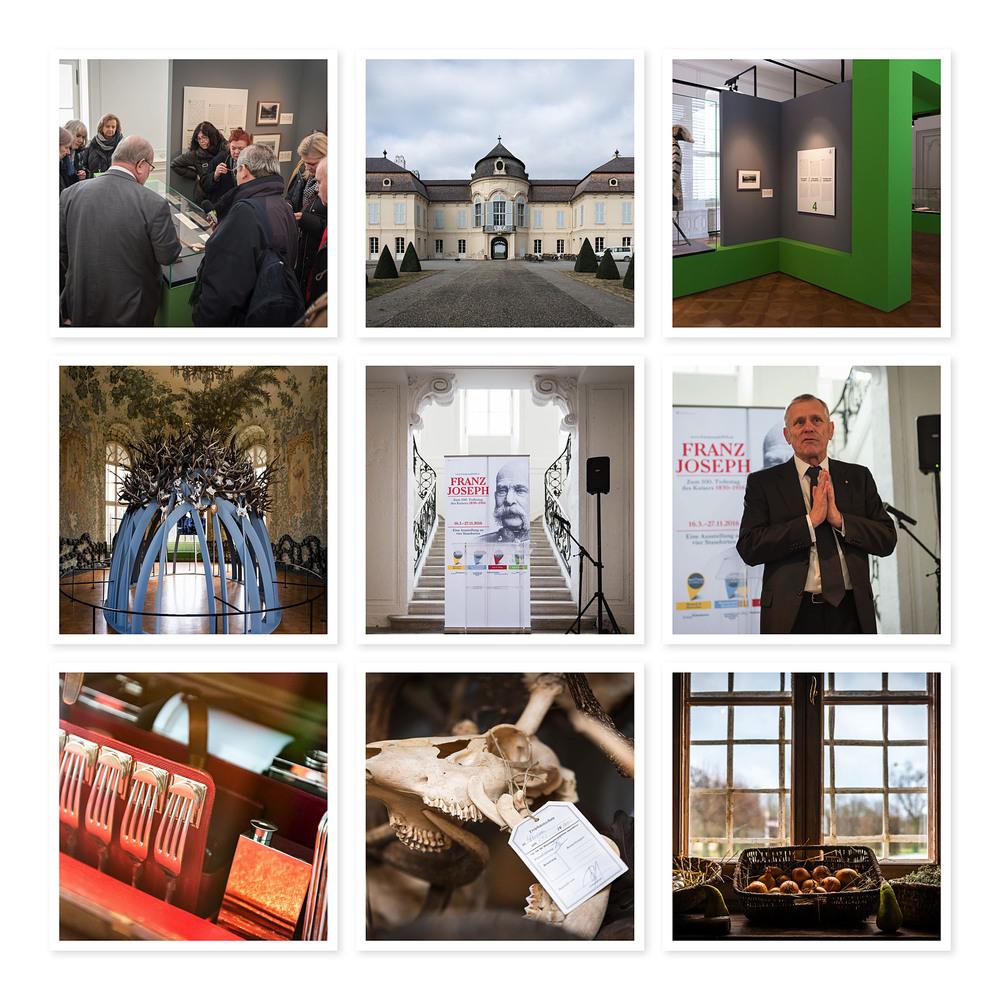 """Schloß Niederweiden als Ort der Ausstellung """"Repräsentation & Bescheidenheit"""""""