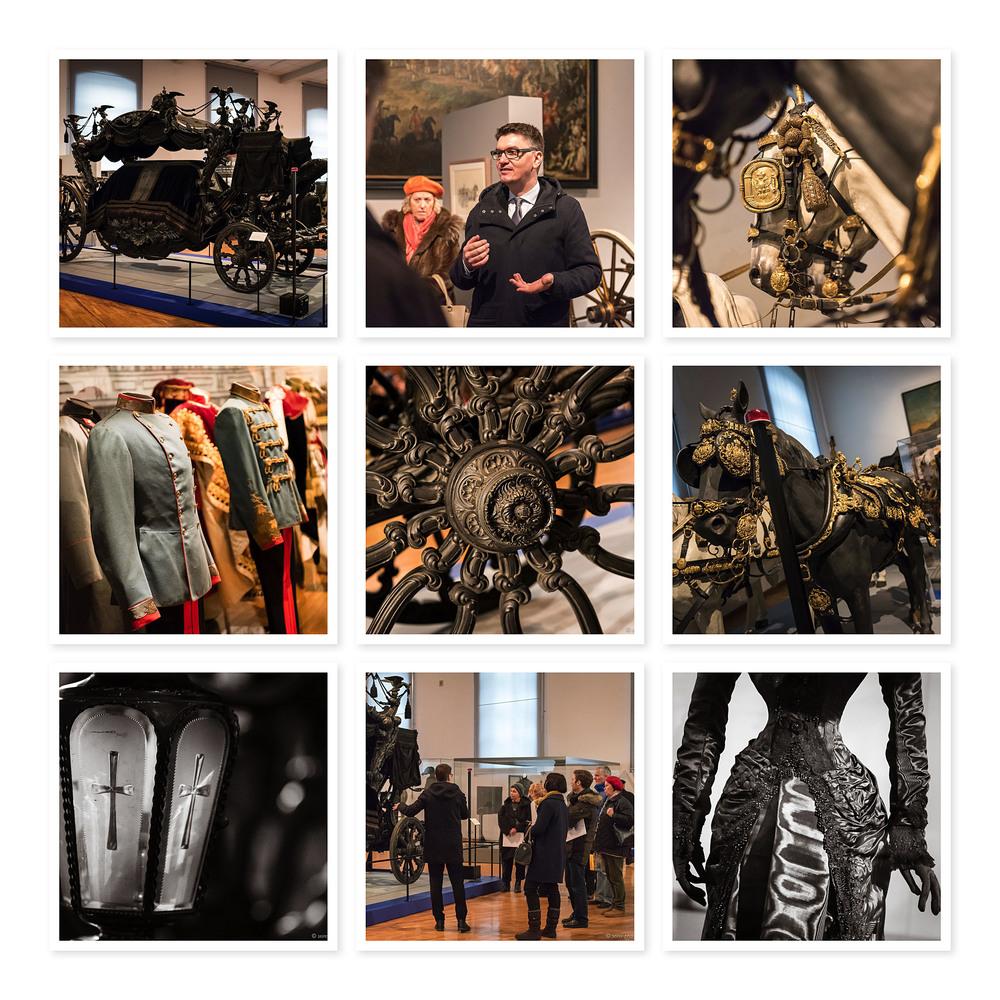Impressionen von Kutschen und Uniformen in der Wagenburg
