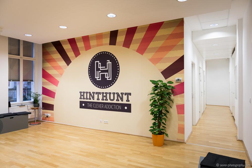 Der Eingangsbereich von HintHunt in Wien