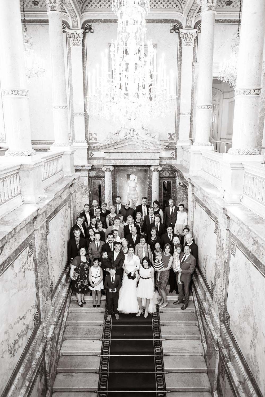 Gruppenbild auf der Fürstenstiege