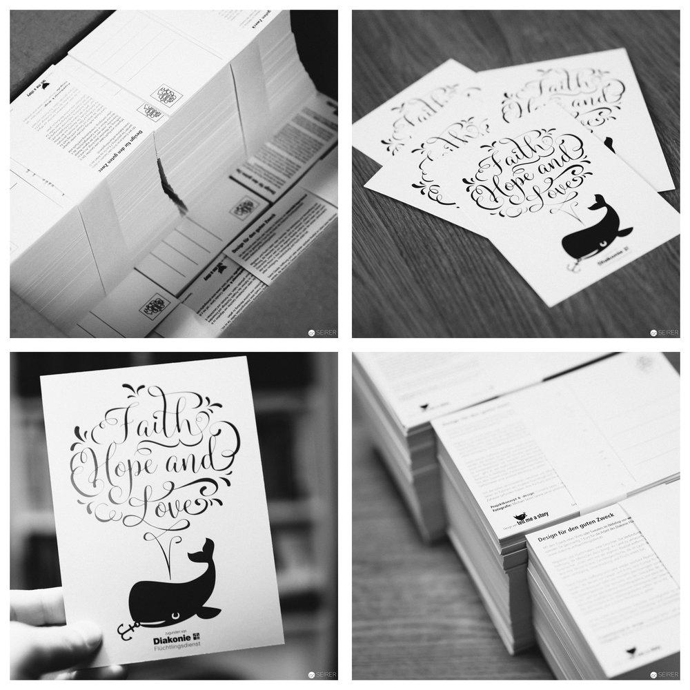 Unsere frisch gedruckten Postkarten von Glaube - Liebe - Hoffnung :)