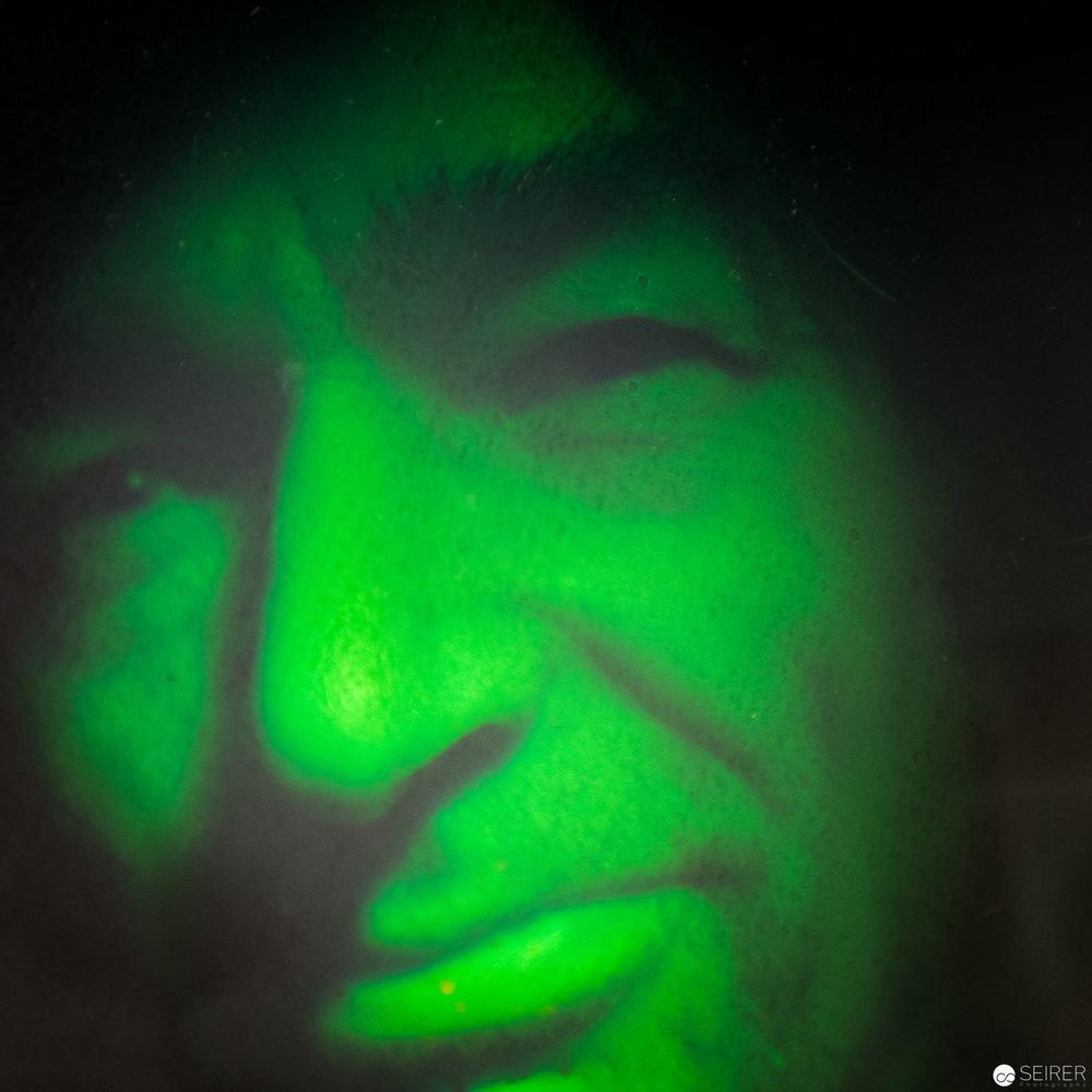 Hologramm von Alfons Schilling - Ausstellung im WestLicht