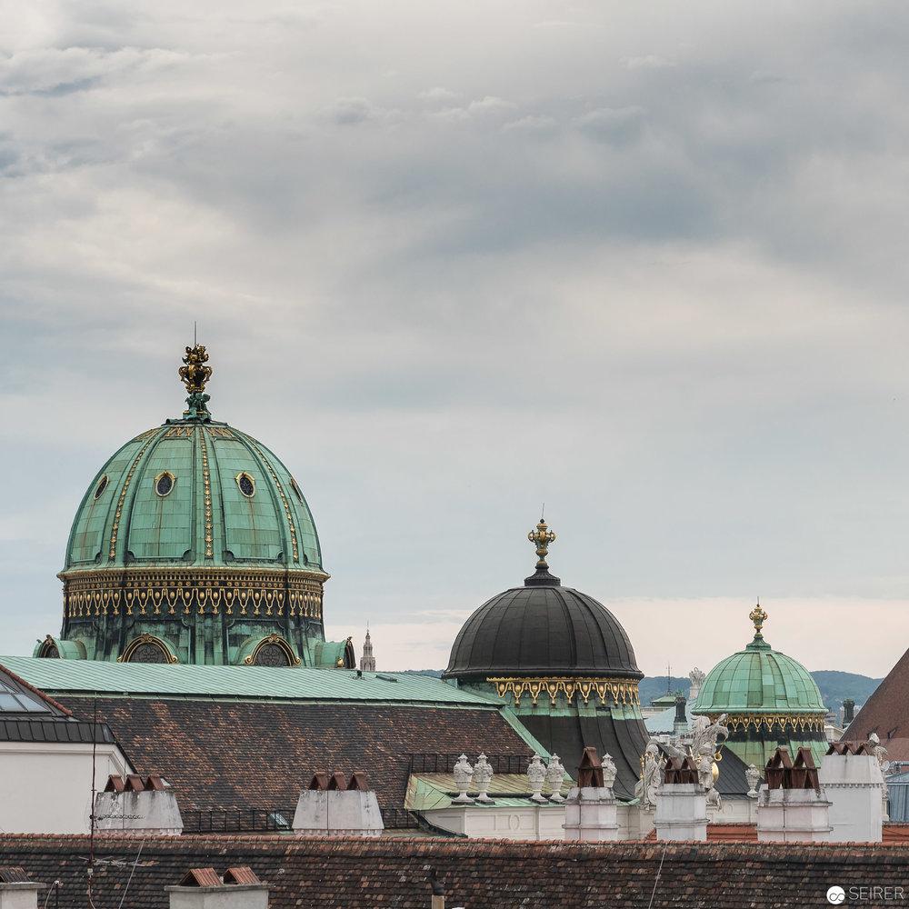 Blick über die Dächer Wiens vom Dorotheum