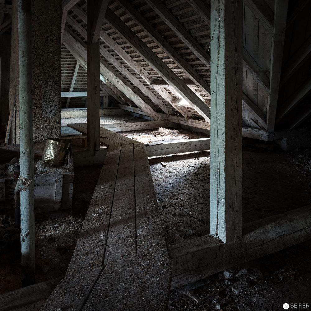 Dachboden des Kurhauses Semmering