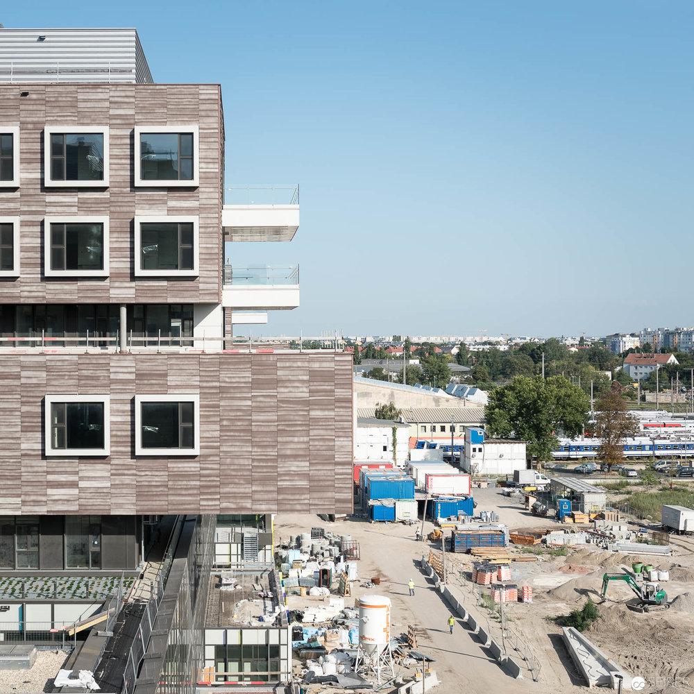Ausblick vom Krankenhaus Nord