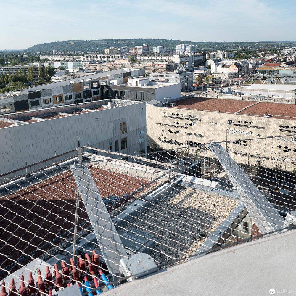 Blick vom Helikopterlandeplatz Krankenhaus Nord