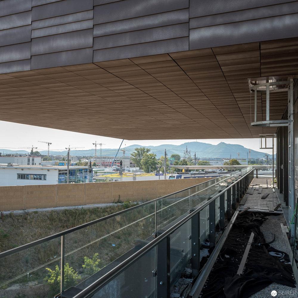 Ausblick von einer Freifläche im Krankenhaus Nord