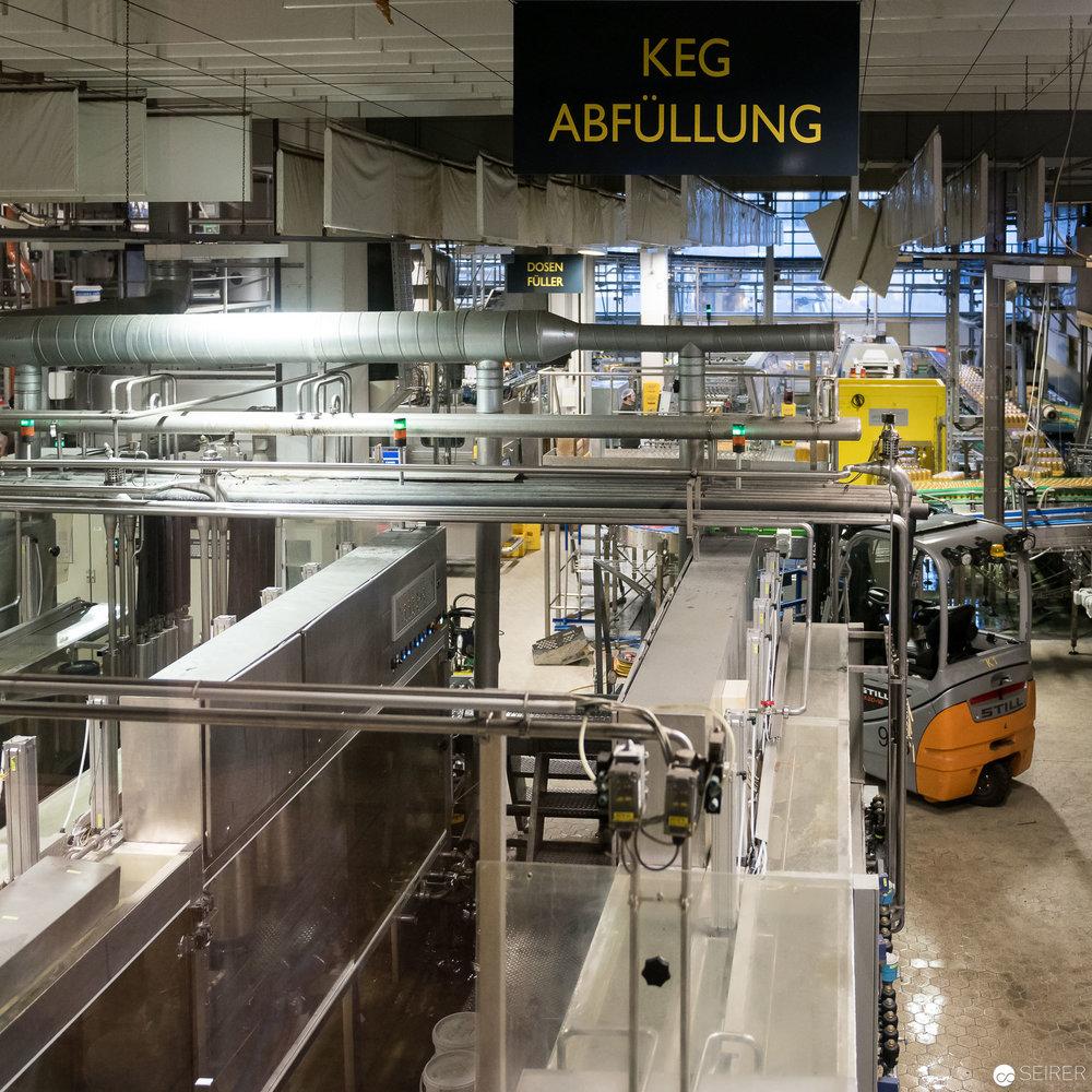 Produktionsanlage in der Ottakringer Brauerei