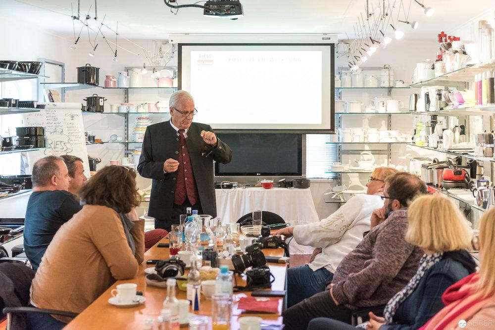 Friedrich Riess erzählt aus der Unternehmensgeschichte