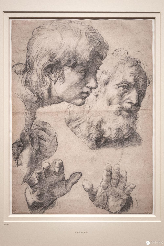 Raffael: Kopf- und Handstudie, 1519-20. Bild: Ashmolean Museum, Oxford © Ashmolean Museum, University of Oxford