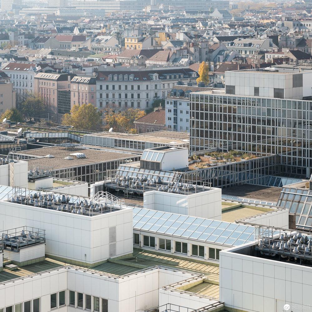 Ehemalige WU Wien - Ausblick vom 14. Stock der Müllverbrennungsanlage Spittelau