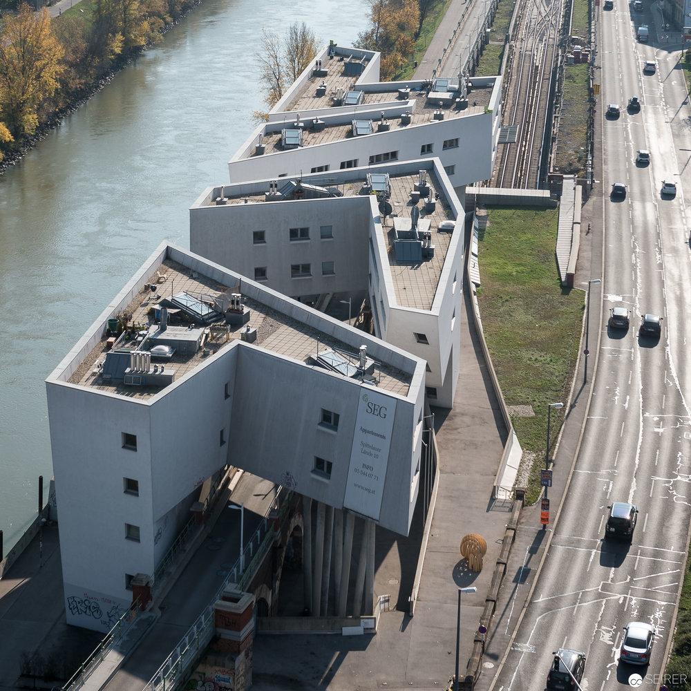 Ausblick vom 14. Stock der Müllverbrennungsanlage Spittelau
