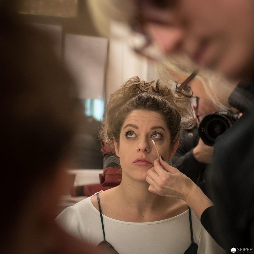 """Isabella Knöll in der Maske für """"Höllenangst"""""""