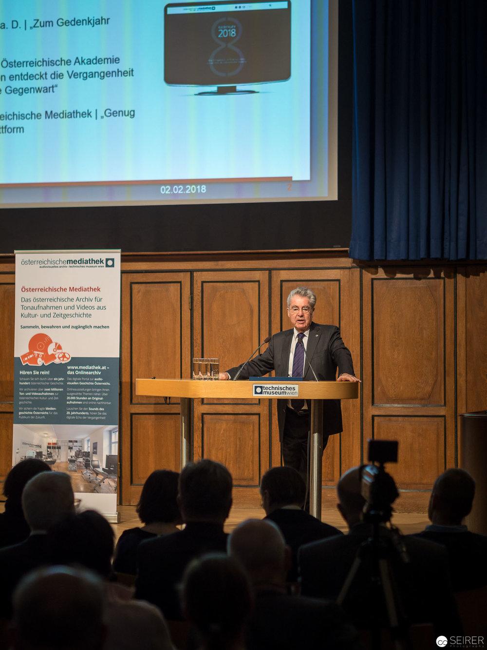 """Dr. Heinz Fischer, Bundespräsident a. D.: """"Zum Gedenkjahr 2018"""""""
