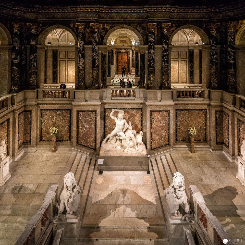 """Einzigartiger Blick von der """"Stairway To Klimt"""" Brücke im Kunsthistorischen Museum Wien"""