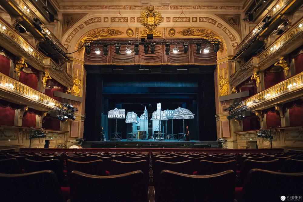 Die beeindruckenden Ränge des Theaters an der Wien.