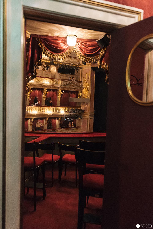 Blick in einer Loge im Theater an der Wien