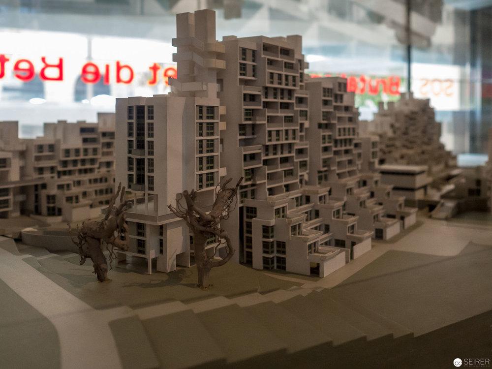 Modell der Terrassenhaussiedlung St. Peter