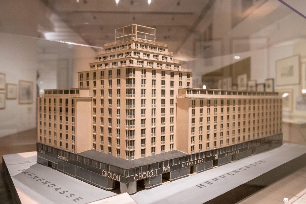 """Hochhaus Herrengasse Modell, """"Post Otto Wagner"""" im MAK Wien"""