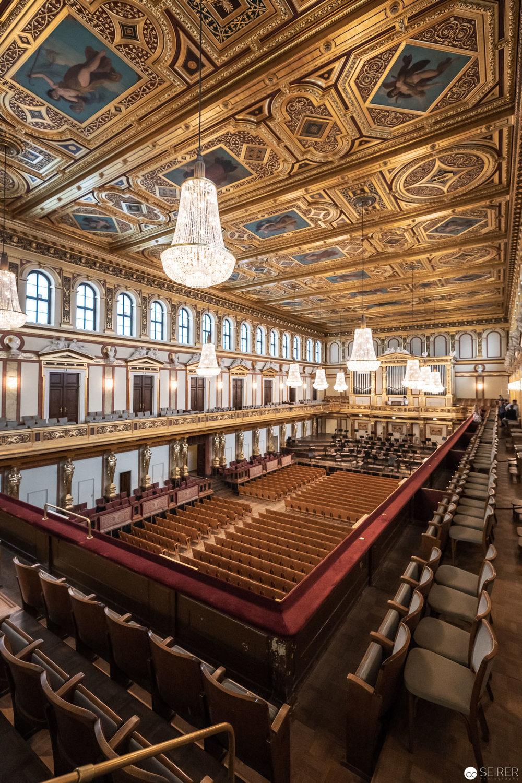Der Goldene Saal (Großer Musikvereinssaal) im Wiener Musikverein