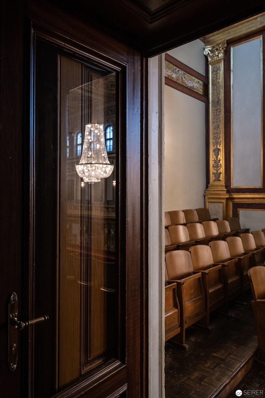 Seiteneingang im Goldenen Saal (Großer Musikvereinssaal) im Wiener Musikverein