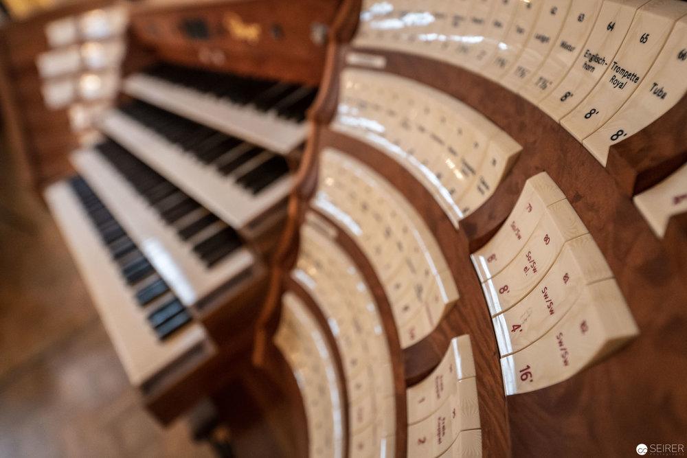 Orgeldetail im Goldenen Saal (Großer Musikvereinssaal) im Wiener Musikverein