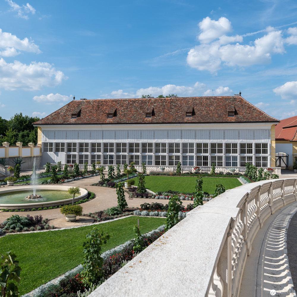 Ansicht Orangerie West, Schloss Hof