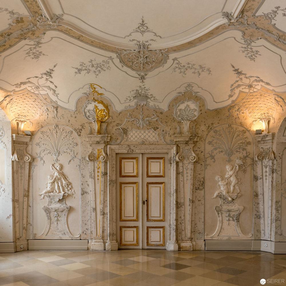 Sala Terrena, Übergang vom Hauptgebäude zum 8-stufig angelegten barocken Garten, Schloss Hof