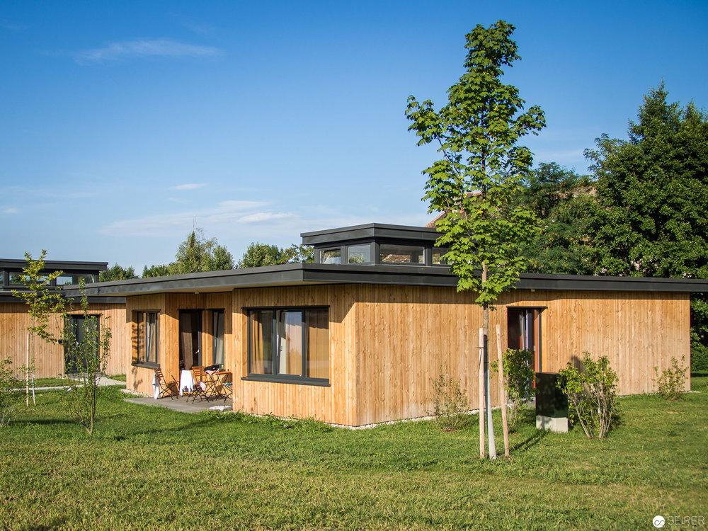 Wer im Schlosspark übernachten will, kann dies in den 16 neuen Cottages tun.