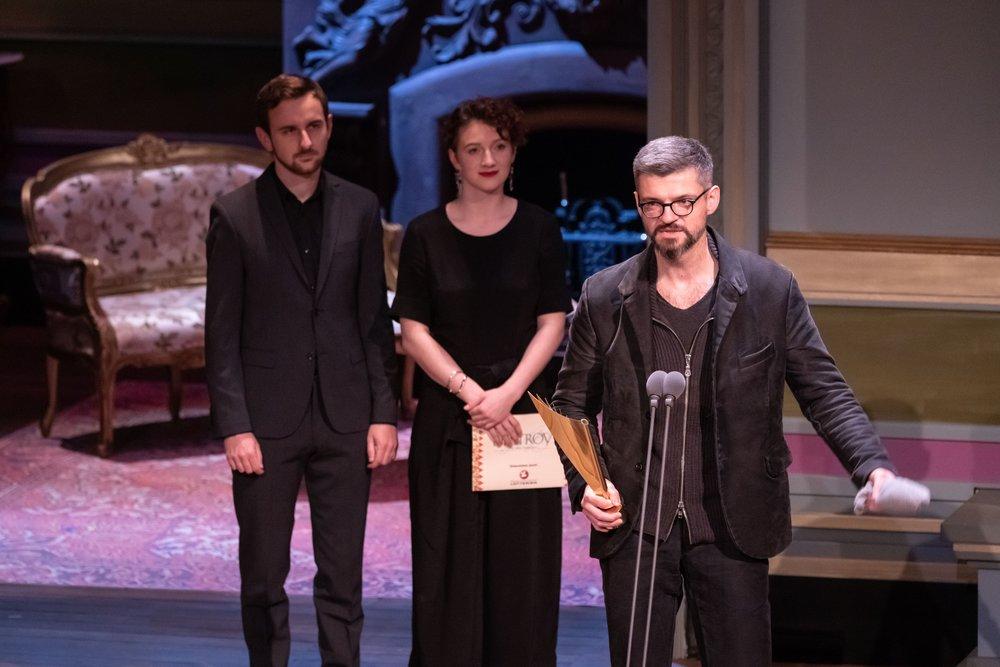 Peter Fasching, Lara Sienczak, Dušan David Pařízek - Nestroy Verleihung 2018